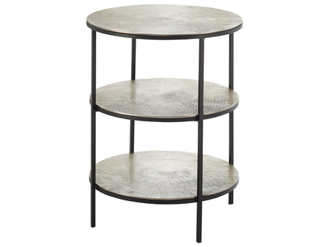 Cane Accent Table in Black design by Currey & Company