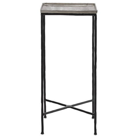 Boyles Drinks Table in Silver design by Currey & Company