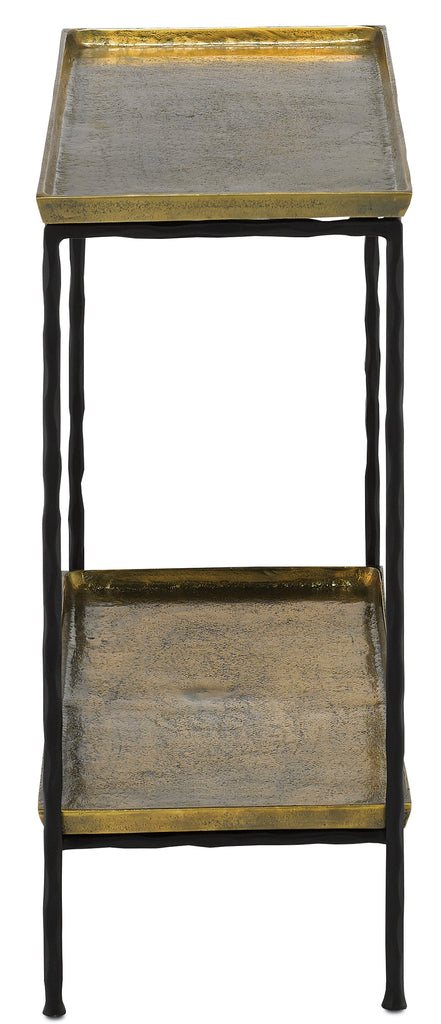 Boyles Brass Side Table design by Currey & Company