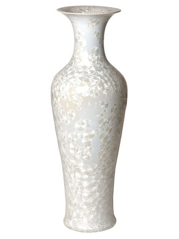 Tall Fishtail Vase in Crystal Taupe design by Emissary