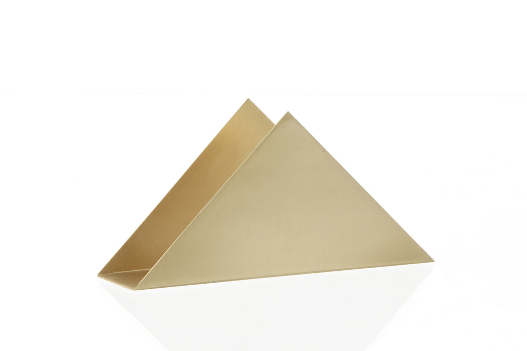 Stand Firm Designs : Brass triangle stand design by ferm living burke decor