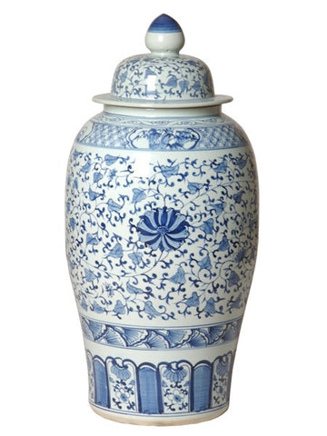 Ginger Jar in Blue & White design by Emissary