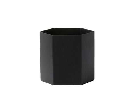 Large Hexagon Pot in Black design by Ferm Living