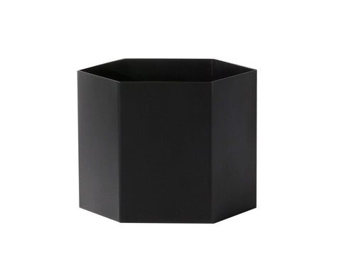 Extra Large Hexagon Pot in Black design by Ferm Living
