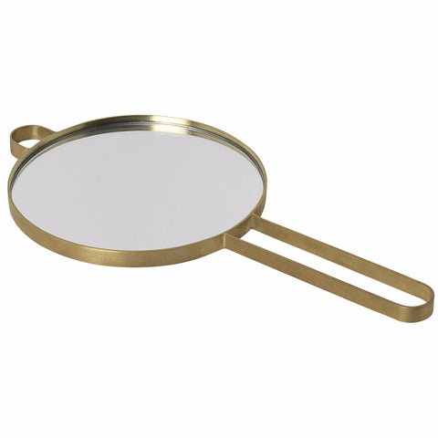 Poise Hand Mirror in Brass design by Ferm Living