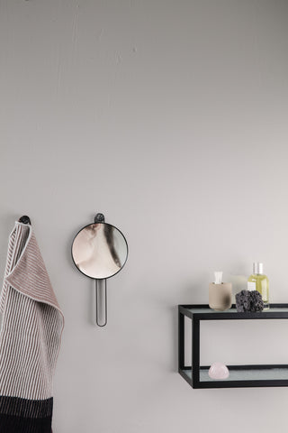Poise Hand Mirror in Black design by Ferm Living