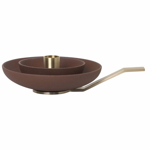 Around Candle Holder in Rust design by Ferm Living