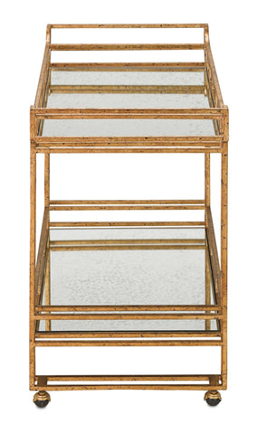 Odeon Bar Cart design by Currey & Company