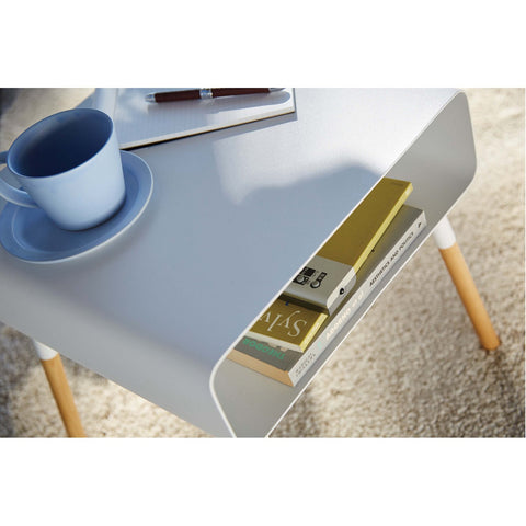 Plain 14-inch Short Storage Table by Yamazaki