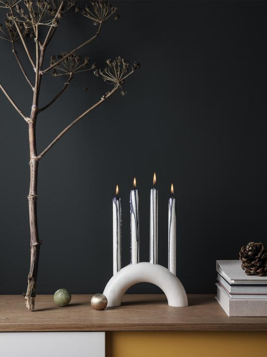 Bow Candle Holder in White