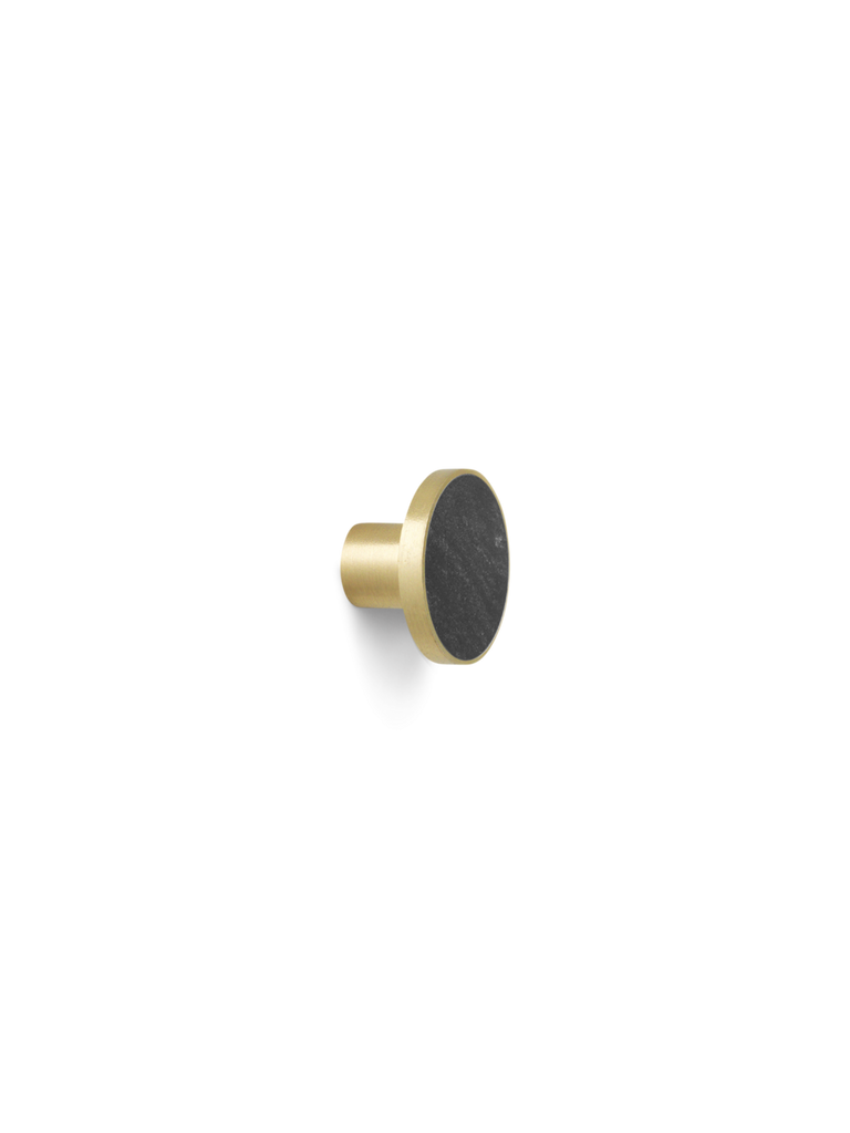 Brass Hook with Black Marble in Various Sizes by Ferm Living