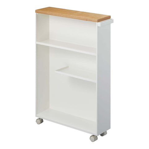 Tower Rolling Slim Bathroom Cart With Handle in Various Colors