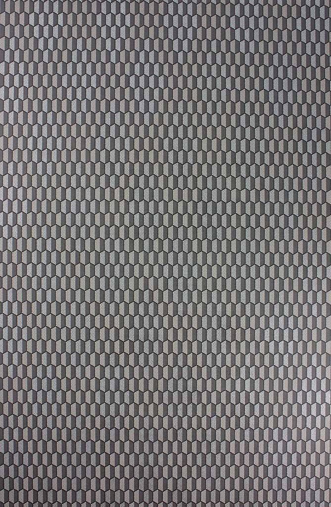 Honeycomb Wallpaper In Darkgrey And Black Color