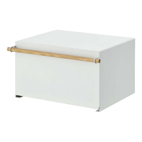 Tosca Bread Box - White Steel and Wood by Yamazaki