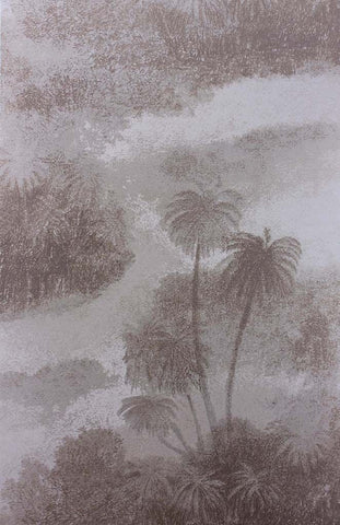 Cocos Wallpaper in tan from the Samana Collection by Matthew Williamson