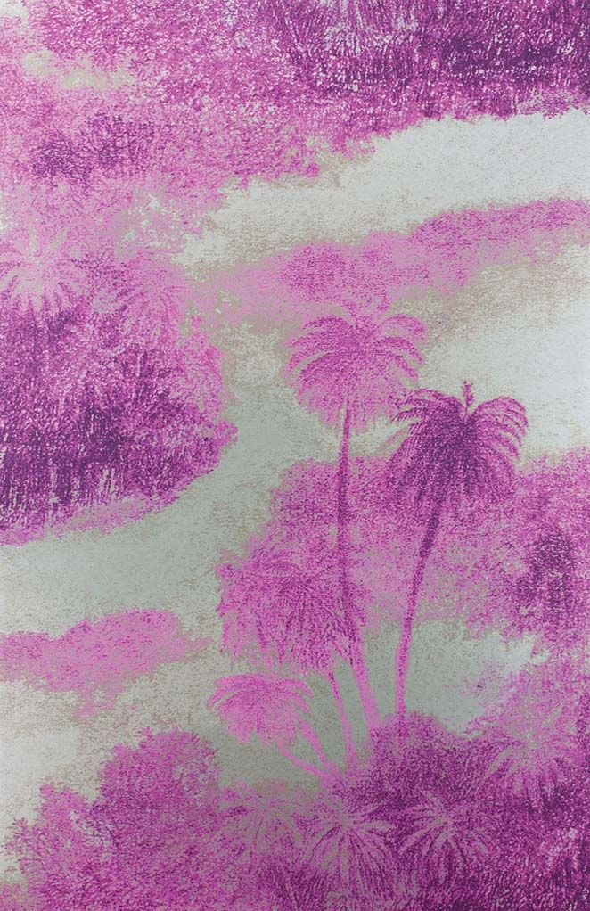 Cocos Wallpaper in purple from the Samana Collection by Matthew Williamson