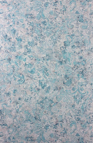 Latania Wallpaper in turquoise and tan from the Samana Collection by Matthew Williamson