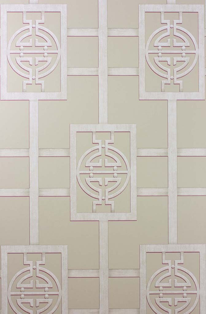 Sample Sansui Wallpaper in tan from the Cathay Collection by Nina Campbell