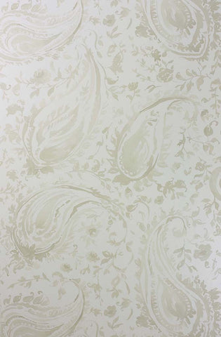 Pamir Wallpaper in silver from the Cathay Collection by Nina Campbell
