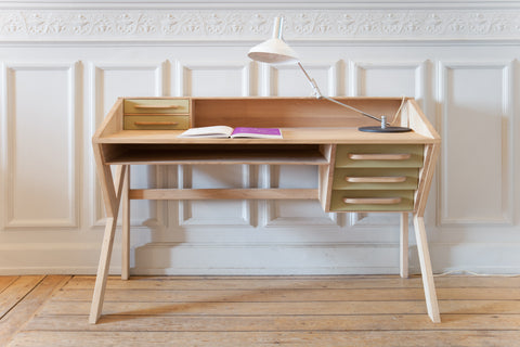 Oak Origami Desk in Various Colors