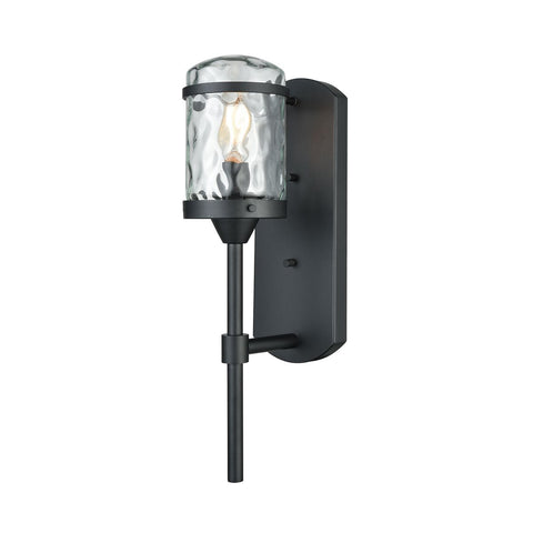 Torch 1 Outdoor Sconce in Charcoal Black