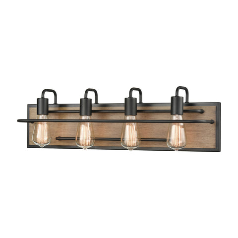 Copley 4-Light Vanity Light in Matte Black and Aspen by BD Fine Lighting