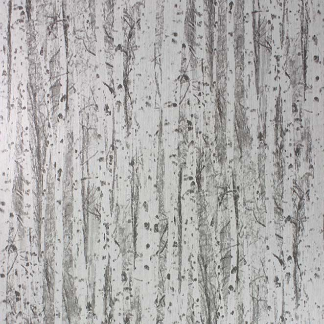 Sample Birch Wallpaper in gray from the Mansard Collection by Osborne & Little