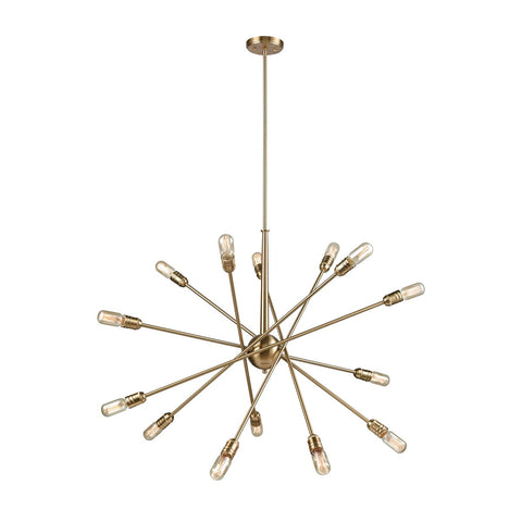 Delphine 14 Chandelier in Satin Brass