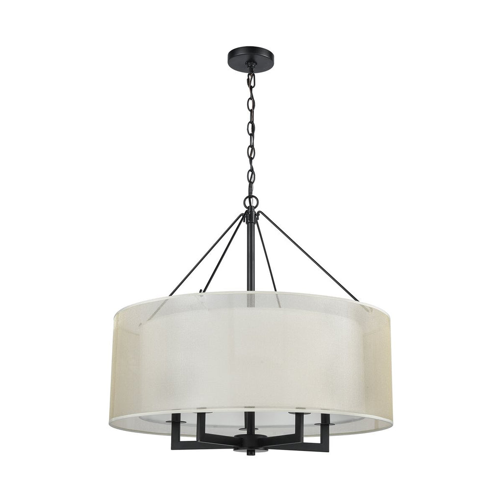Ashland 5 Pendant in Matte Black