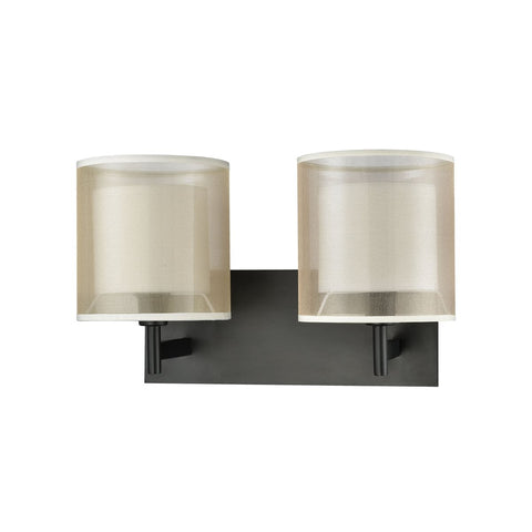 Ashland 2 Vanity Sconce in Matte Black