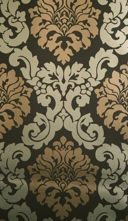 Radnor Wallpaper in tan from the Folia Collection by Osborne & Little