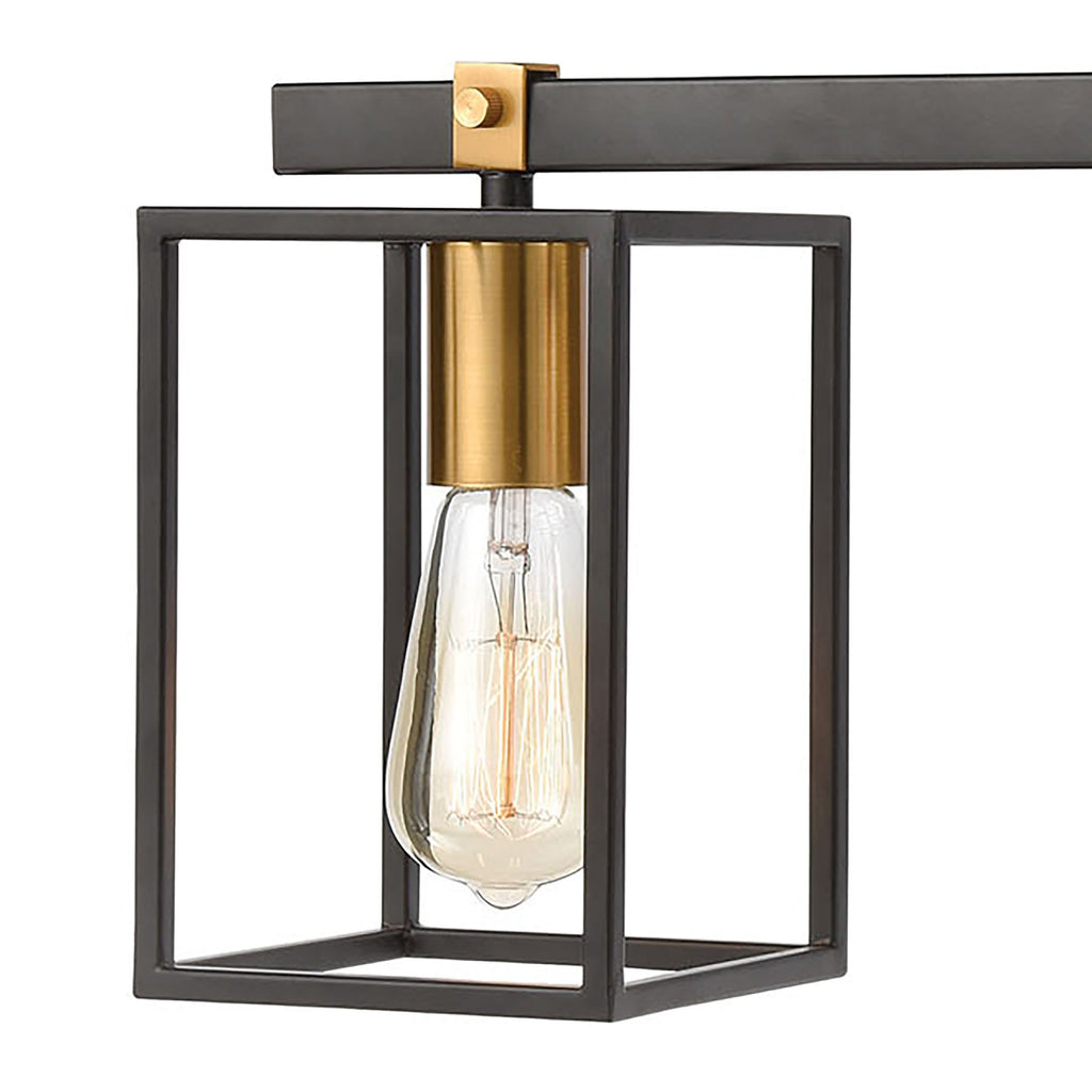 Cloe 3-Light Vanity Light in Matte Black by BD Fine Lighting