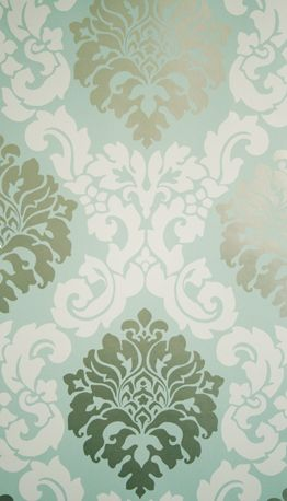 Sample Radnor Wallpaper in Turquoise from the Folia Collection by Osborne & Little