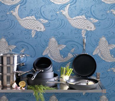 Derwent Wallpaper in gray from the Folia Collection by Osborne & Little