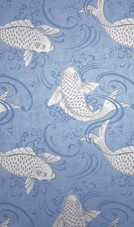 Sample Derwent Wallpaper in blue from the Folia Collection by Osborne & Little