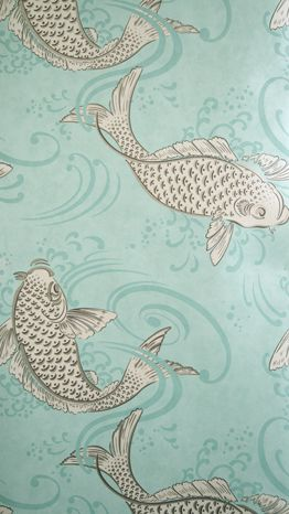 Derwent Wallpaper in turquoise from the Folia Collection by Osborne & Little