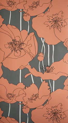 Sample Arizona Wallpaper in Brown from the Hothouse by Suzy Hoodless Collection by Osborne & Little
