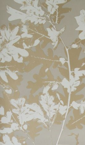 Sherwood Wallpaper in tan from the Walk In The Park Collection by Osborne & Little