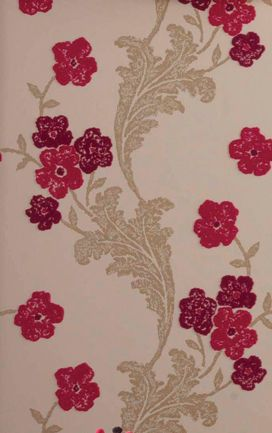 Fontette Wallpaper in red Color by Osborne & Little