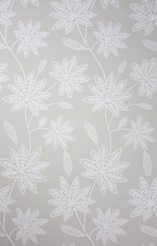 Chenar Wallpaper in silver from the Persian Garden Collection by Osborne & Little