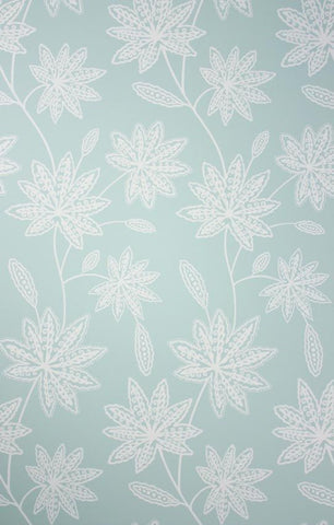 Chenar Wallpaper in turquoise from the Persian Garden Collection by Osborne & Little
