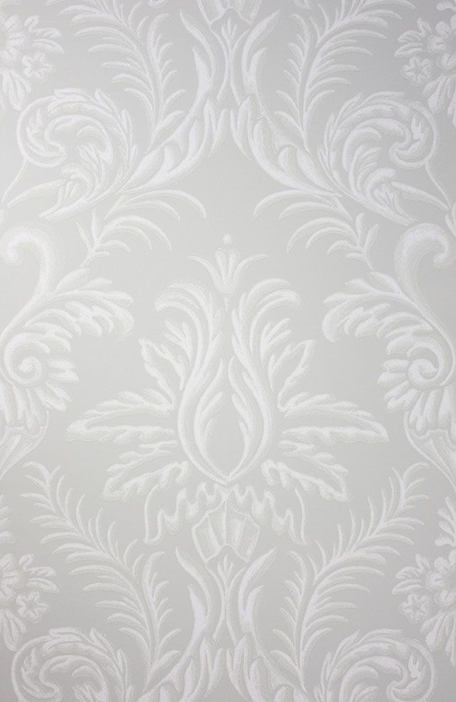 Ardwell Wallpaper in gray from the Braemar Collection by Nina Campbell