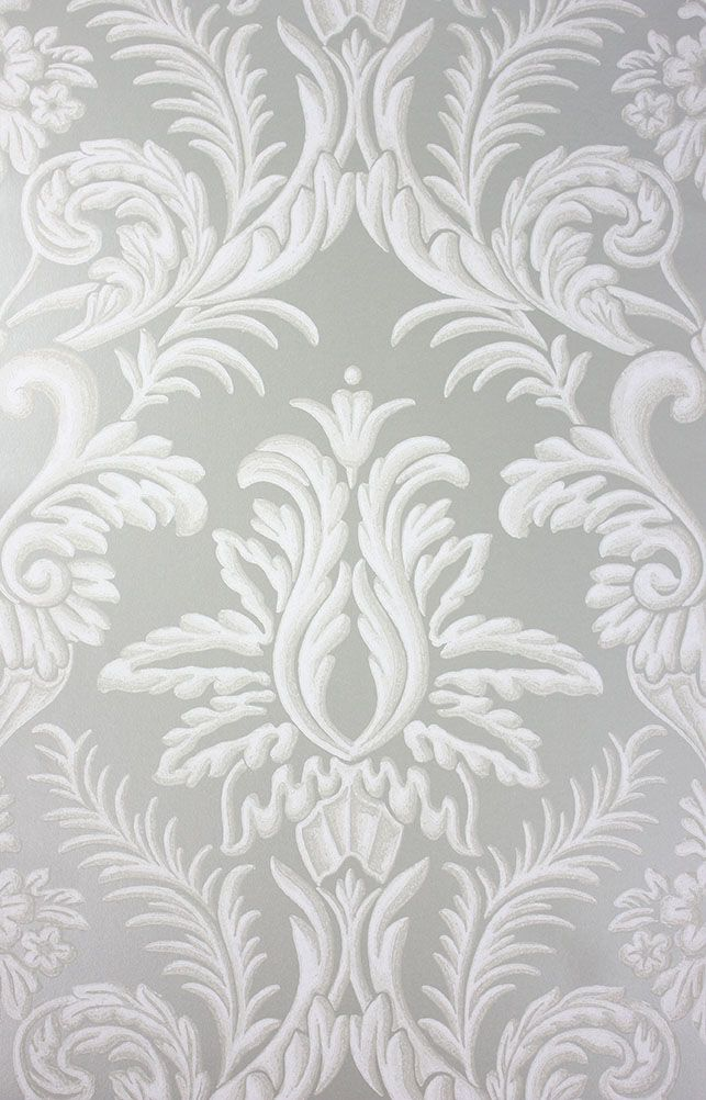 Sample Ardwell Wallpaper in Grey from the Braemar Collection by Nina Campbell