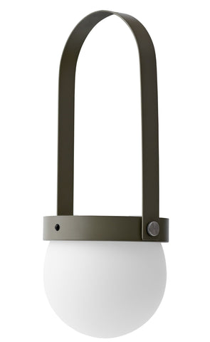Carrie Portable LED Lamp in Olive design by Menu