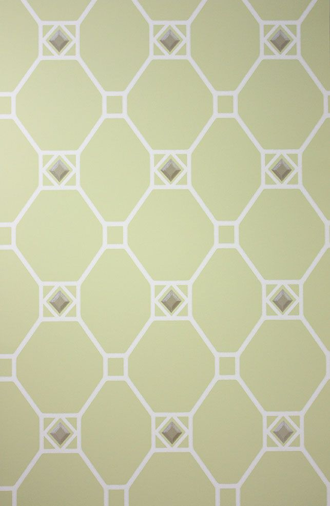 Huntly Wallpaper in green from the Braemar Collection by Nina Campbell