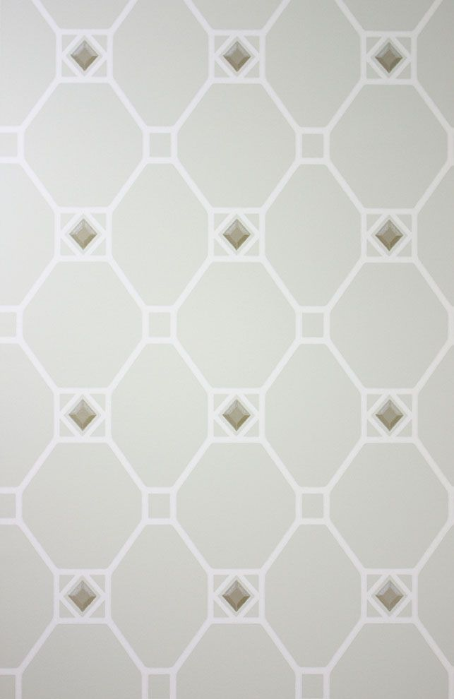 Sample Huntly Wallpaper in gray from the Braemar Collection by Nina Campbell