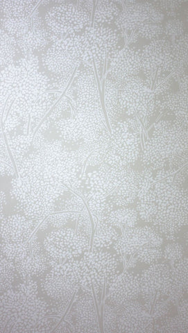 Woodsford Wallpaper in gray and tan Color by Nina Campbell
