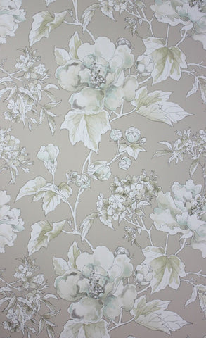 Benington Wallpaper in tan from the Woodsford Collection by Nina Campbell