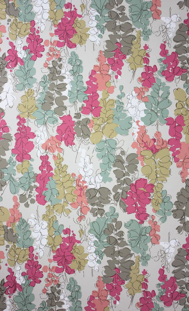 Fairfield Wallpaper in multi-color from the Woodsford Collection by Nina Campbell