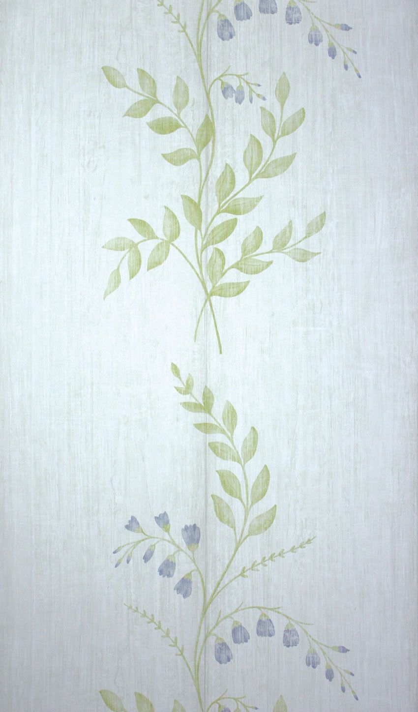Sample Aubourn Wallpaper in Green from the Woodsford Collection by Nina Campbell